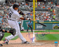 Miguel Cabrera Autographed Detroit Tigers 16x20 Photo #1 - Home Swing (Horizontal)