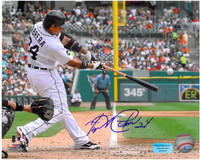 Miguel Cabrera Autographed Detroit Tigers 8x10 Photo #1 - Home Swinging Horizontal