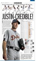 """Justin-Credible"" Justin Verlander 2011 Cy Young/MVP Free Press Poster"