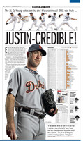 """Justin-Credible"" Justin Verlander 2011 Cy Young/MVP Free Press Poster"