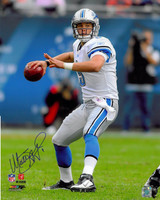 Matthew Stafford Autographed Detroit Lions 16x20 Photo #1 - Road Action