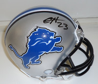 Chris Houston Autographed Detroit Lions Mini Helmet