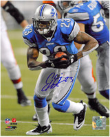 Chris Houston Autographed Detroit Lions 8x10 Photo #1 - Running with Ball