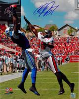 Calvin Johnson Autographed Detroit Lions 16x20 Photo #2 - Leaping Catch vs. TB