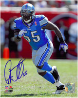 Stephen Tulloch Autographed Detroit Lions 8x10 Photo #1 - Home Action
