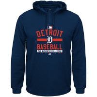 Detroit Tigers Majestic Authentic Collection Team Property Therma Base™ Hooded Fleece Pullover