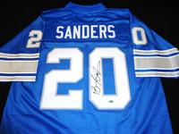 Barry Sanders Autographed Detroit Lions Jersey - Blue Pro Line