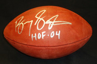 "Barry Sanders Autographed Official NFL Football inscribed ""HOF 04"""
