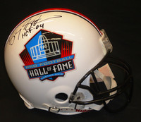 "Barry Sanders Autographed Hall of Fame Logo Pro Line Helmet with ""HOF 04"""