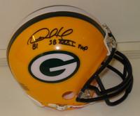 "Desmond Howard Autographed Packers Mini Helmet w/ ""SB MVP"""