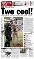 """""""Two Cool"""" Justin Verlander's 2nd No-Hitter Free Press Poster"""