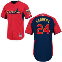 "Miguel Cabrera Autographed Authentic 2014 All Star Game BP Jersey Inscribed ""1st All Star Game HR"""