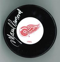 Marcel Pronovost Autographed Detroit Red Wings Puck