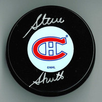 Steve Shutt Autographed Montreal Canadiens Puck