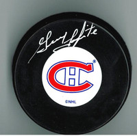 Guy Lapointe Autographed Montreal Canadiens Puck