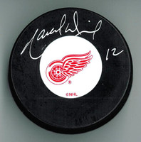 Marcel Dionne Autographed Detroit Red Wings Puck