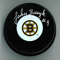 Johnny Bucyk Autographed Hockey Puck