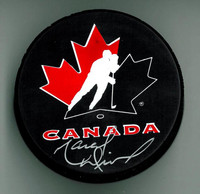 Marcel Dionne Autographed Team Canada Hockey Puck