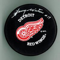 Harry Watson Autographed Hockey Puck