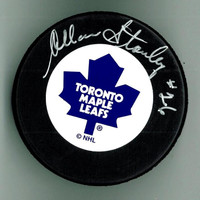 Allan Stanley Autographed Toronto Maple Leafs Hockey Puck