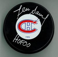 "Denis Savard Autographed Canadiens Hockey Puck w/ ""HOF"""