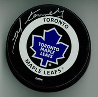 Ted Kennedy Autographed Toronto Maple Leafs Game Puck