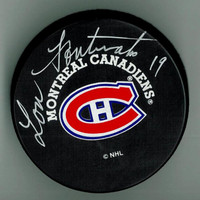 Lou Fontinato Autographed Montreal Canadiens Puck