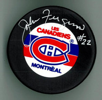 John Ferguson Autographed Montreal Canadiens Hockey Puck