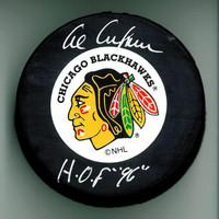 "Al Arbour Autographed Hockey Puck w/ ""HOF"""