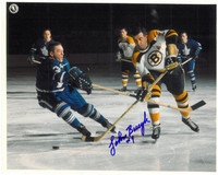 Johnny Bucyk Autographed Boston Bruins 8x10 Photo #4