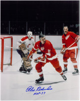 Alex Delvecchio Autographed Detroit Red Wings 8x10 Photo #4