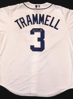 Alan Trammell Autographed Detroit Tigers Jersey