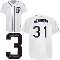 Larry Herndon Autographed Detroit Tigers Jersey