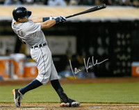 Ian Kinsler Autographed Detroit Tigers 16x20 Photo #1 - Road Batting