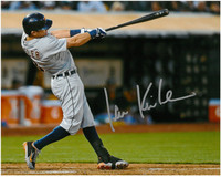 Ian Kinsler Autographed Detroit Tigers 8x10 Photo #1 - Road Batting