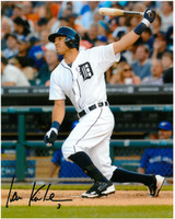 Ian Kinsler Autographed Detroit Tigers 8x10 Photo #3 - Home Swinging