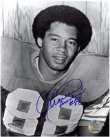 Charlie Sanders Autographed Detroit Lions 8x10 Photo #1