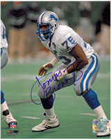 Lomas Brown Autographed Detroit Lions 8x10 Photo #1