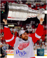 Niklas Kronwall Autographed Detroit Red Wings 8x10 Photo #3 - with 2008 Stanley Cup