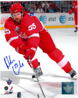 Niklas Kronwall Autographed Detroit Red Wings 8x10 Photo #2 - 2008 Finals Action