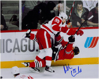 Niklas Kronwall Autographed Detroit Red Wings 8x10 Photo #4 - Hit on Havlet