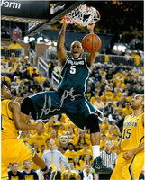 Adreian Payne Autographed Michigan State Spartans 16x20 Photo #3 - Dunk vs Michigan