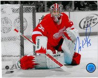 Jimmy Howard Autographed Detroit Red Wings 8x10 Photo #2 - Spotlight