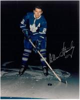 Allan Stanley Autographed Toronto Maple Leafs 8x10 Photo #1