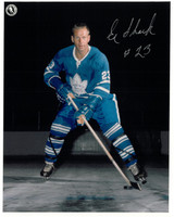 Eddie Shack Autographed Toronto Maple Leafs 8x10 Photo #3