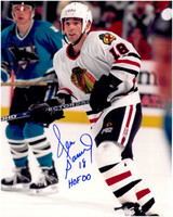 Denis Savard Autographed Chicago Blackhawks 8x10 Photo #5