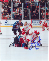 Darren McCarty Autographed 8x10 Photo #1 - Fight vs. Claude Lemieux