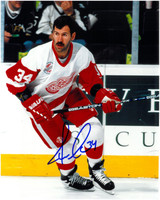 Jamie Macoun Autographed Detroit Red Wings 8x10 Photo