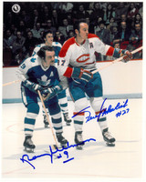 Frank Mahovlich and Norm Ullman Autographed 8x10 Photo