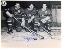 Elmer Lach Autographed Montreal Canadiens 8x10 Photo #3